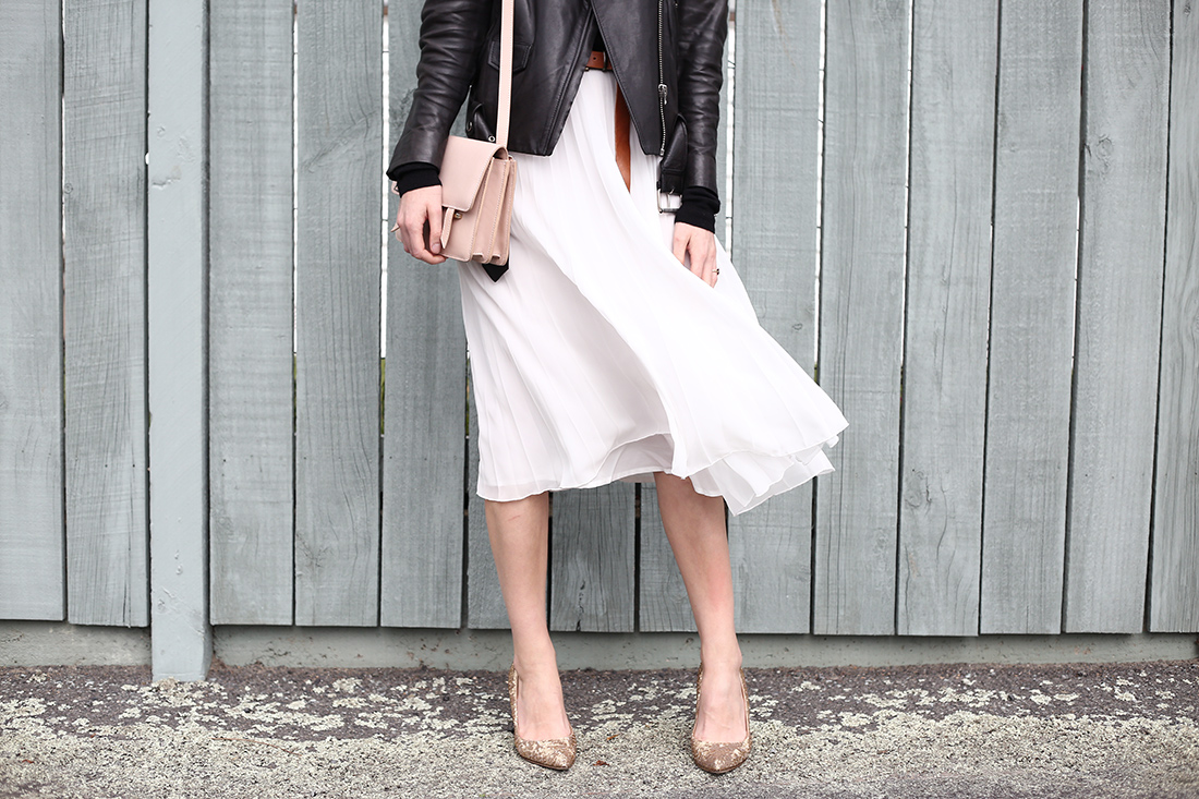asos pleated skirt givenchy sequin heels