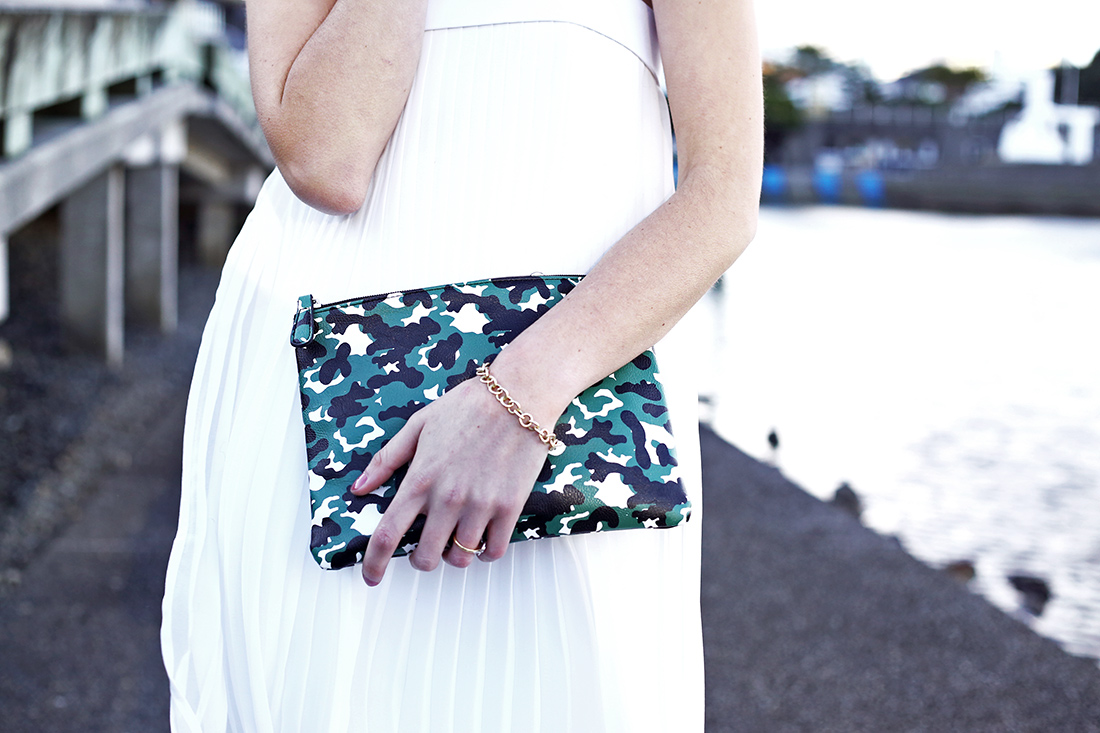 dion lee corrugated pleat cress cameo right on cardigan asos camo clutch