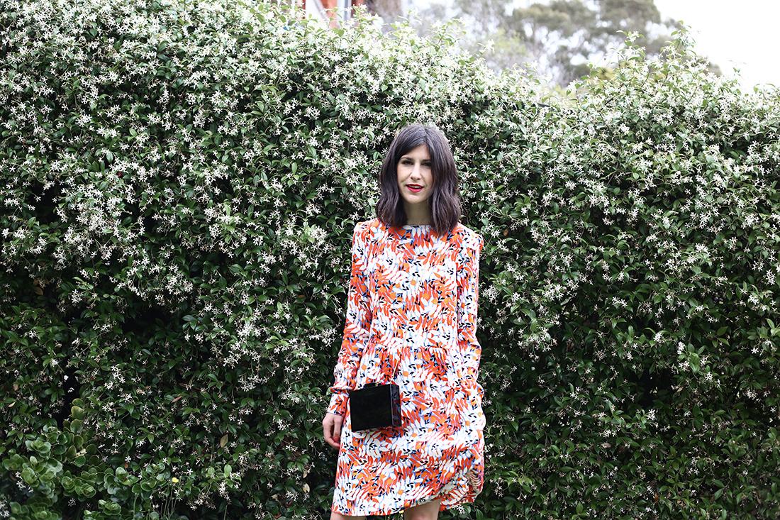 grazia shop lulu guinness clutch juniper rose dress