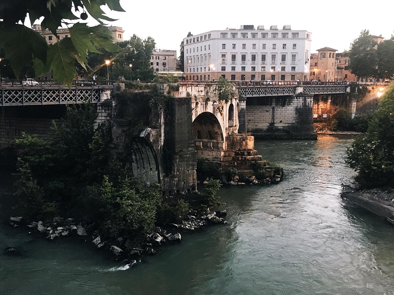 mademoiselle travels rome italy ponte palatino