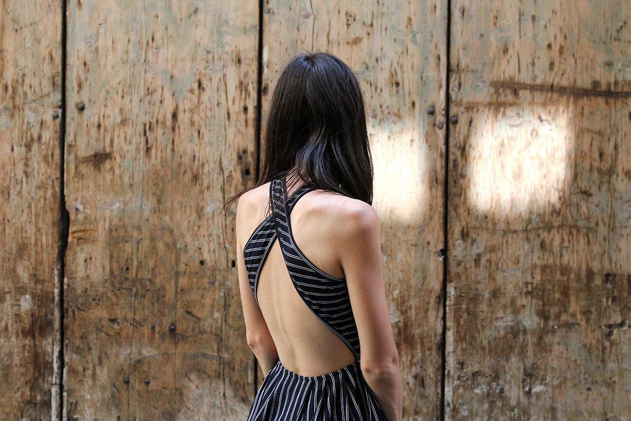 italy florence travel mademoiselle asos pinstripe midi dress ONA capri tote