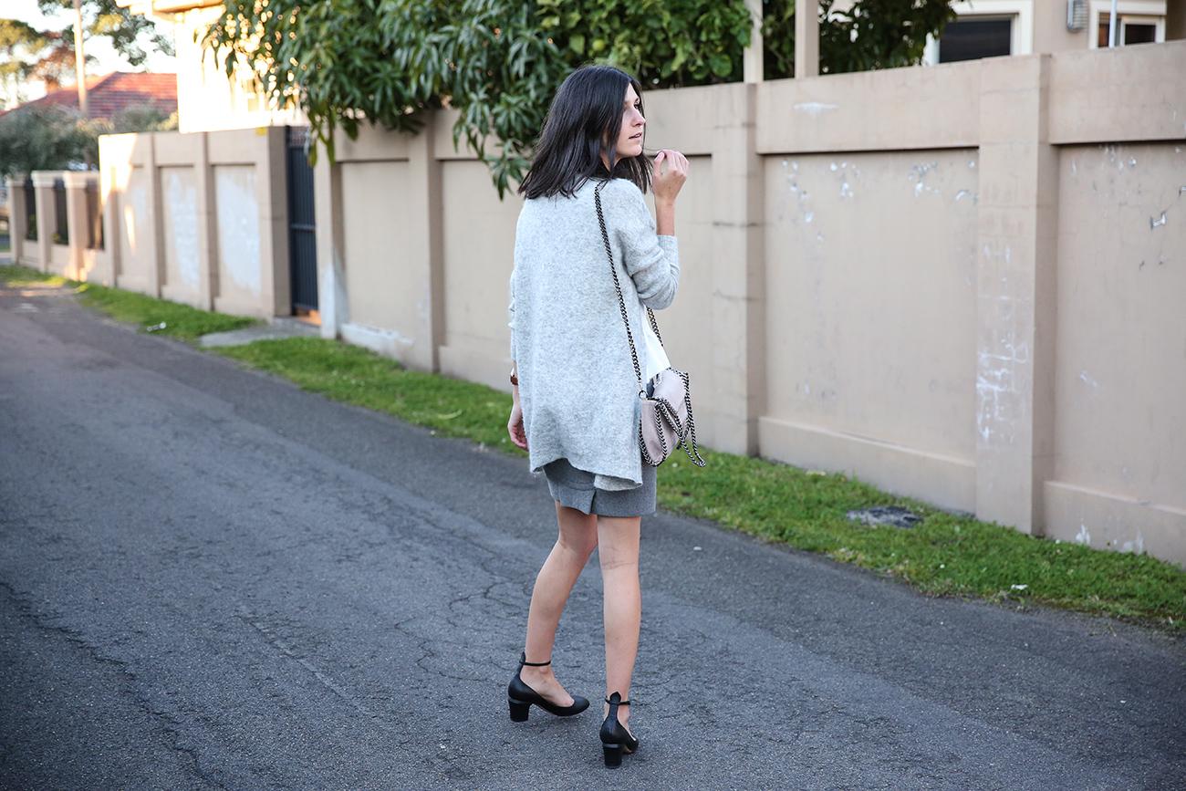 outfit asos peplum hem top alexander wang skirt