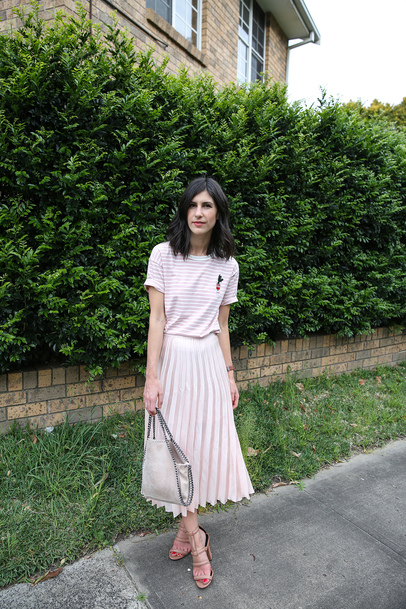 pink pleated skirt ruby nz