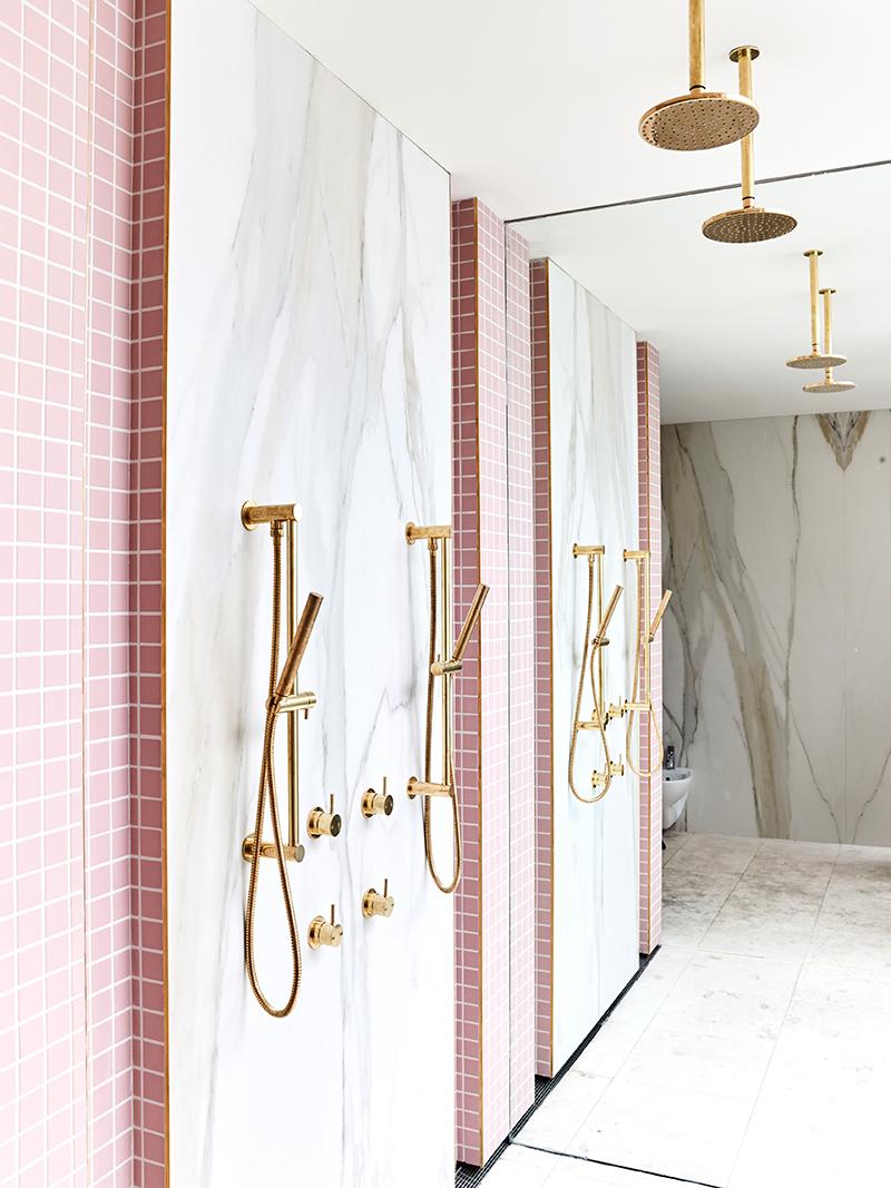 rose quartz pink bathroom ensuite home decor