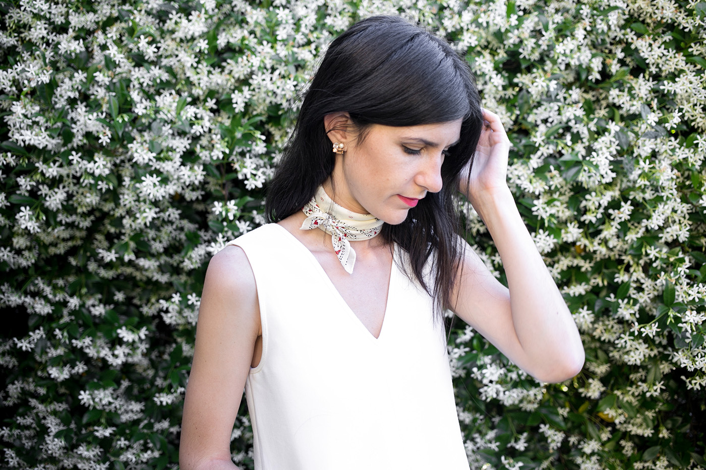 madewell bandana neck tie outfit