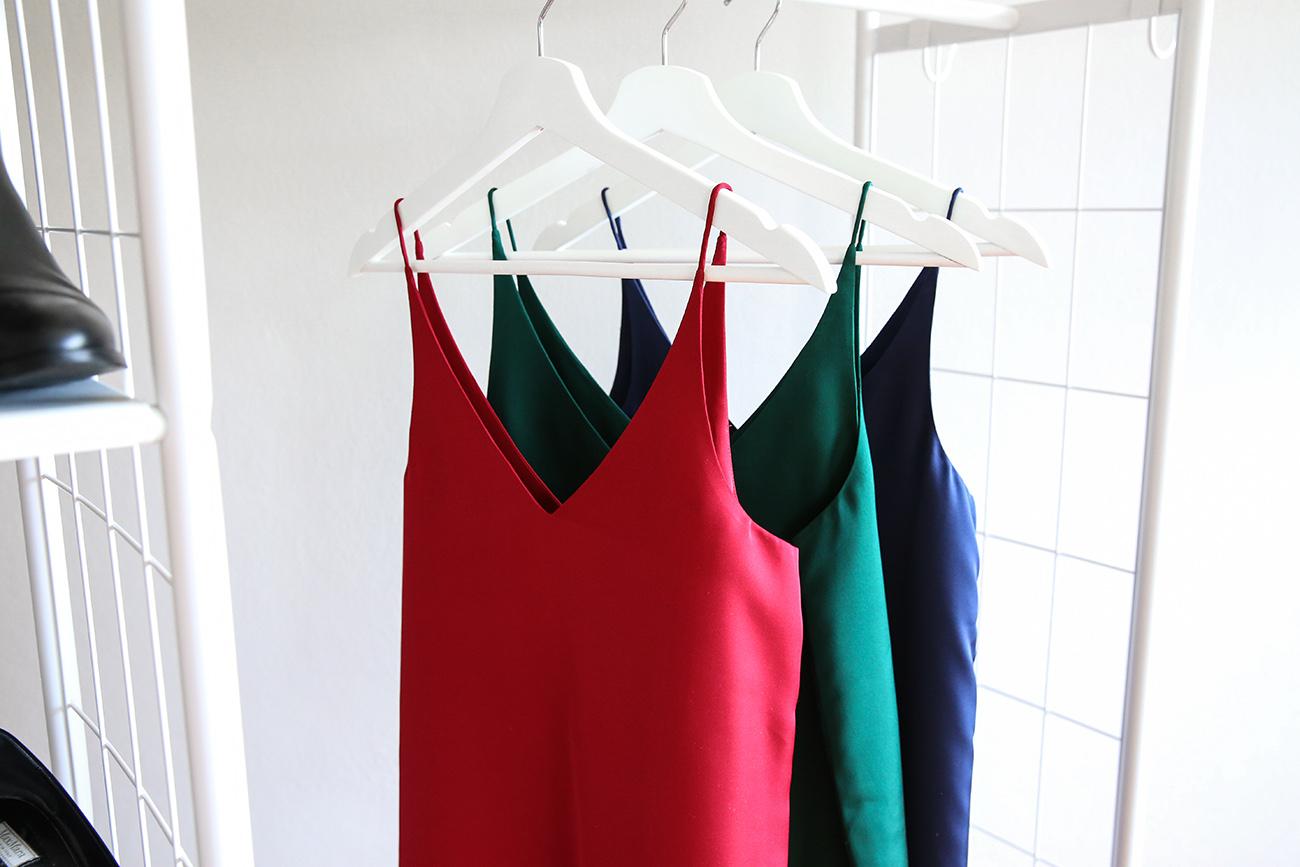 grana silk camisole slip dress rio red emerald