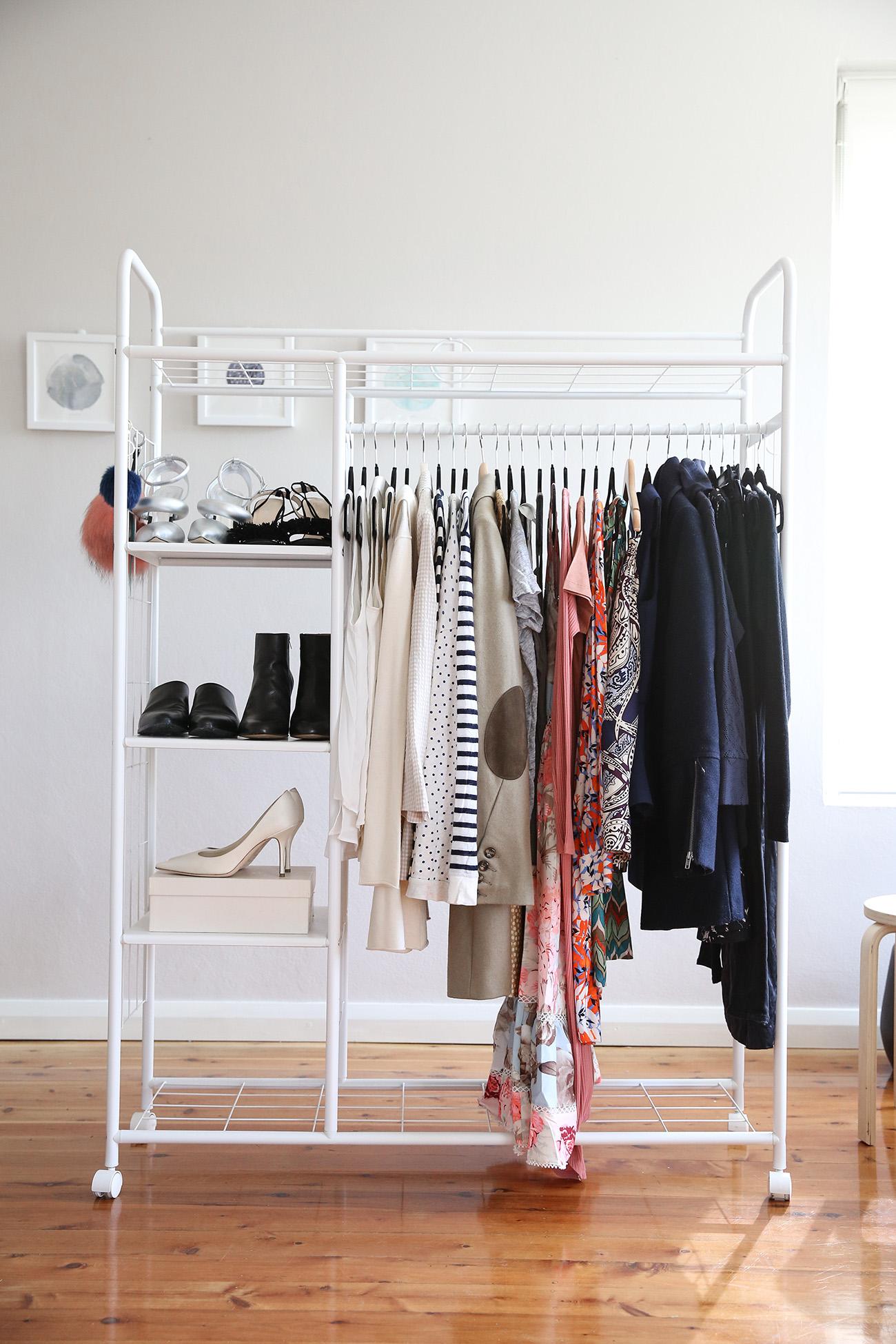declutter wardrobe rehab cull minimalist minimal closet