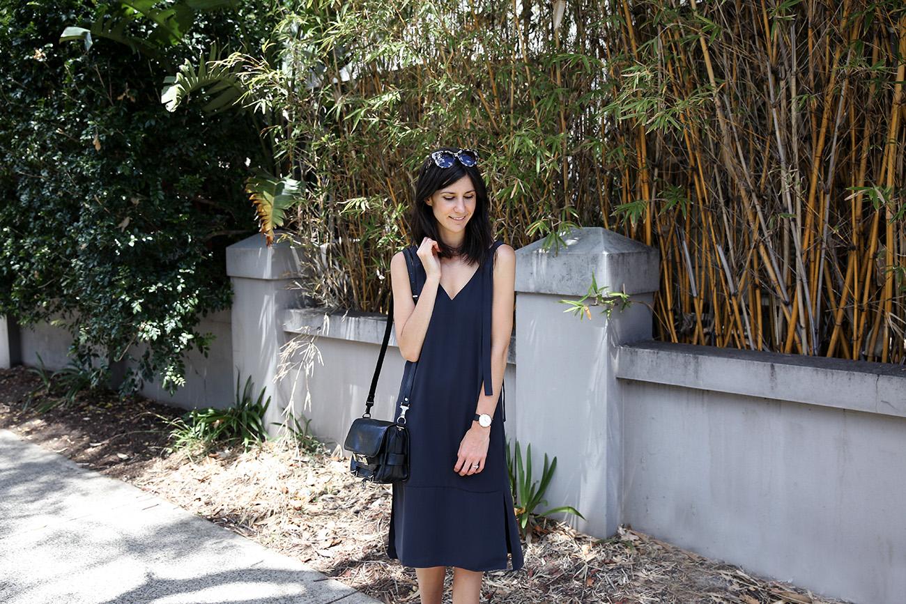 minimal slip dress outfit mademoiselle