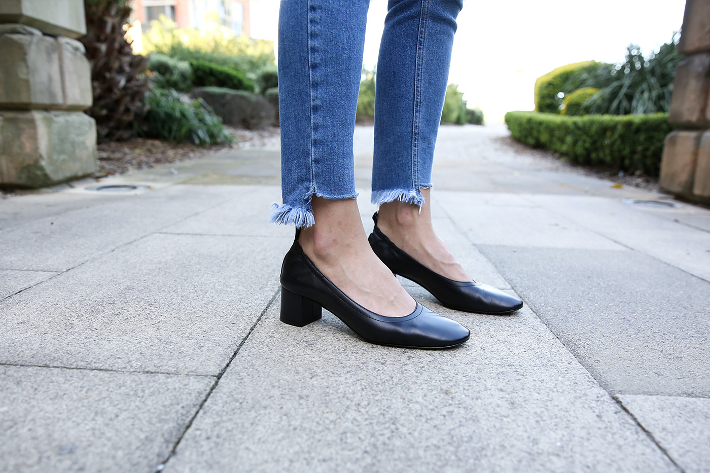 Night Blue Work Shoes Heel