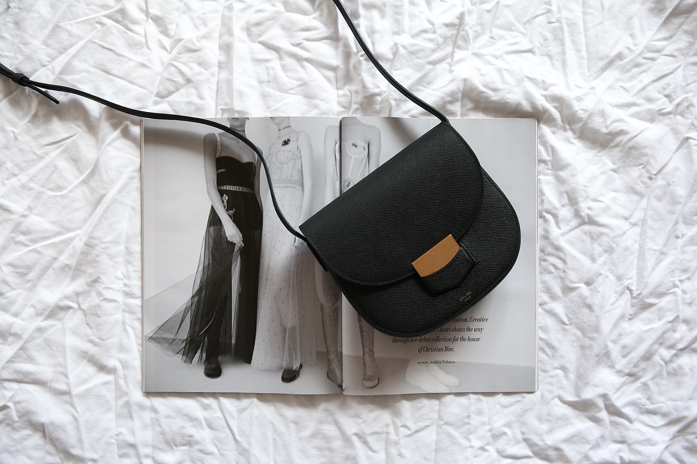 1facbf604103 celine trotteur bag black leather minimal