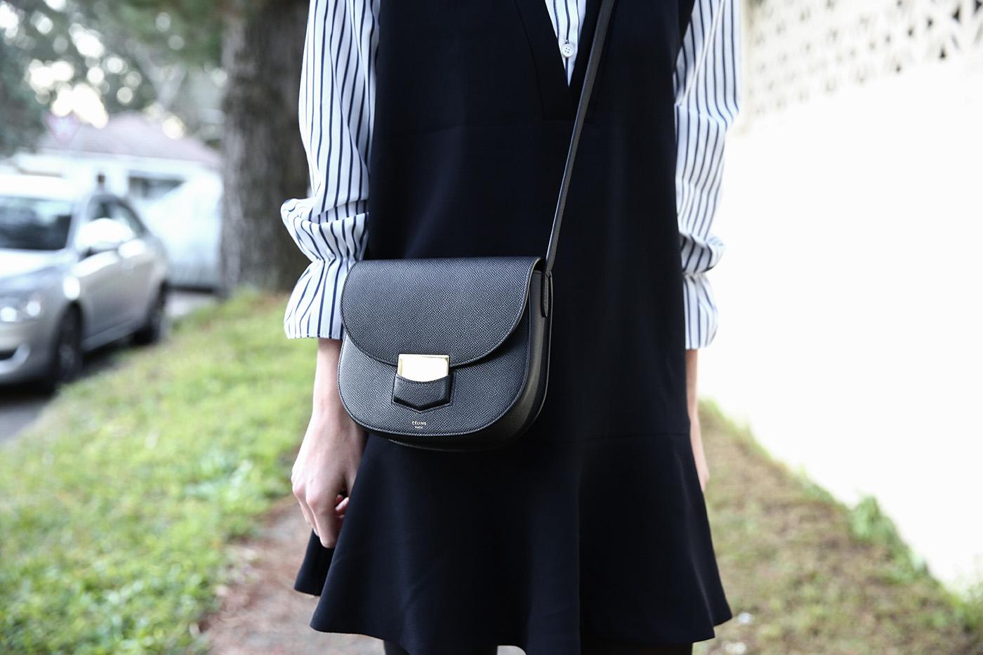 Celine trotteur bag in black
