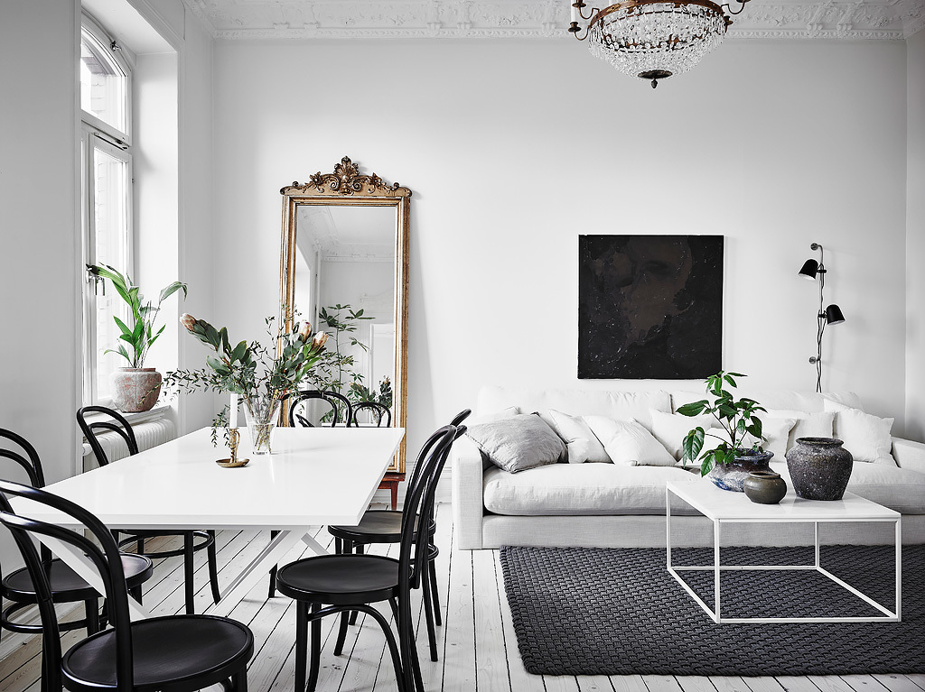 Interior Inspiration: Scandinavian home in black, white, and beige ...